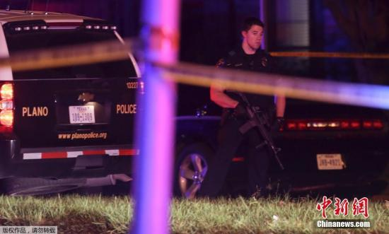 资料图:当地时间9月10日,美国得克萨斯州枪击案致8死2伤,嫌疑人被击毙。