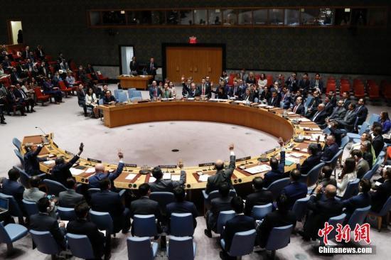 安理会成员国投票现场。 中新社记者 马德林 摄
