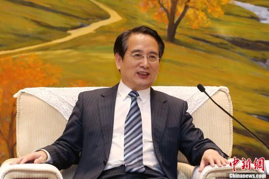 9月15日,中国国务院侨务办公室副主任谭天星在北京会见法国华侨华人会与法国青田同乡会联合访问团一行。<a target='_blank' href='http://www.chinanews.com/'>中新社</a>记者 韩海丹 摄