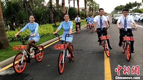 资料图:9月17日世界骑行日,摩拜单车举办公益骑行活动。 <a target='_blank' href='http://www.chinanews.com/'>中新社</a>记者 淼森 摄