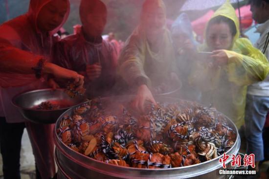 资料图片:大闸蟹。陈超 摄