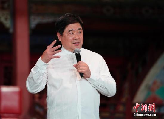 图为故宫博物院院长单霁翔致辞。 中新社记者 杜洋 摄