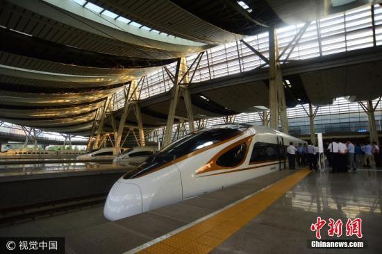 资料图为复兴号动车组。 图片来源:视觉中国