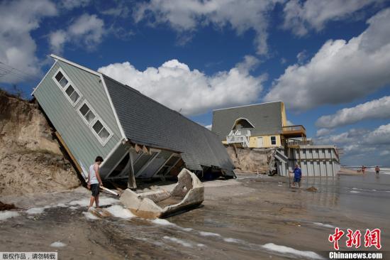 """飓风""""哈维""""与""""艾尔玛""""给美国经济造成的损失总计或将高达2900亿美元,相当于美国国内生产总值的1.5%。"""