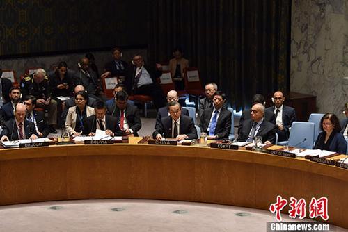 当地时间9月20日,中国外交部长王毅在纽约联合国总部出席维和行动安理会高级别会议并发言。 中新社记者 刁海洋 摄