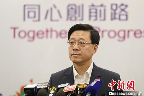 资料图:香港特区政府保安局局长李家超。 中新社记者 盛佳鹏 摄