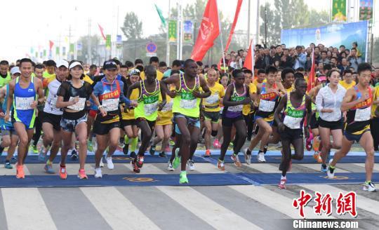 资料图:马拉松比赛 杨艳敏 摄