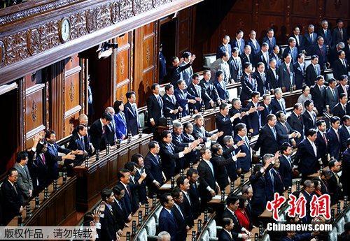 当地时间2017年9月28日,日本首相安倍晋三宣布解散众议院。
