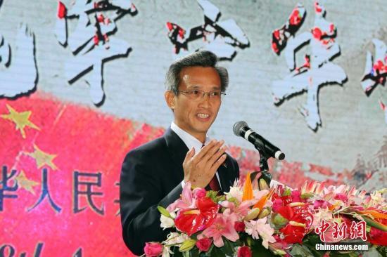 林松添大使致辞。记者 宋方灿 摄
