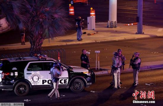 警方称,他们在曼德列湾赌场酒店的32层与枪手遭遇,其后将其击毙。
