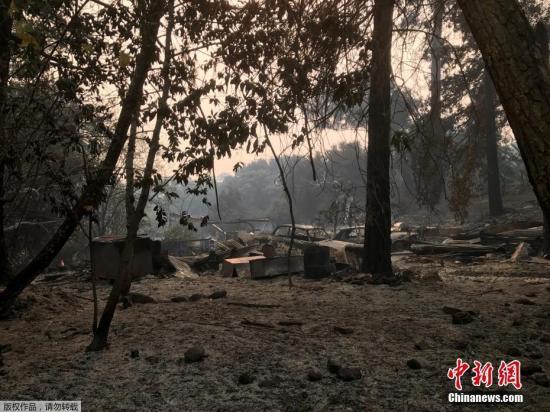 图为被烧毁的地区。