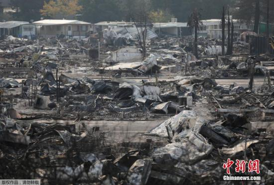 加州北部森林大火持续燃烧,已造成至少40人死亡,成为加州史上最致命的山火。