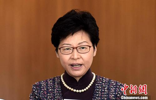 资料图:香港特区行政长官林郑月娥。 记者 谭达明 摄