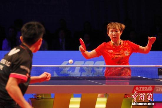 朱雨玲在比赛中(资料图) 中新社记者 余瑞冬 摄