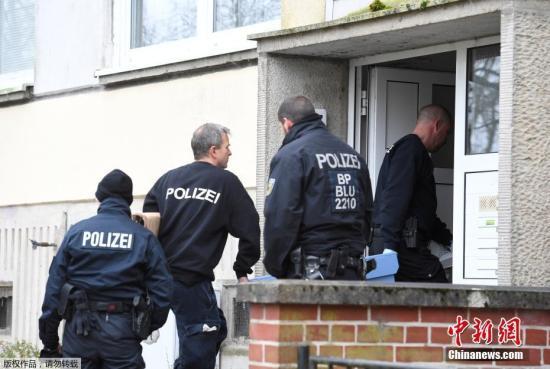 资料图:德国警方。