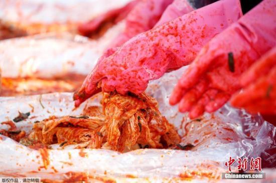 材料图片:韩式泡菜。