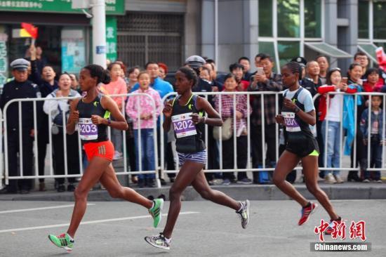 资料图:马拉松比赛。 刘康 摄