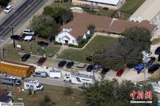图为发生枪击案的教堂。
