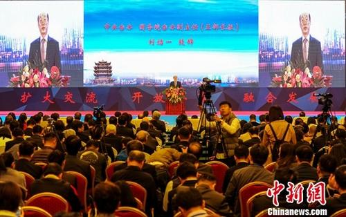 11月8日,第十四届湖北・武汉台湾周在武汉东湖国际会议中心开幕,海峡两岸千余名嘉宾齐聚一堂,共话发展。<a target='_blank' href='http://www.torvenius.com/'>中新社</a>记者 张畅 摄