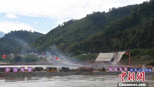 资料图:中国电建在海外全流域投资开发的老挝南欧江项目二期工程。<a target='_blank' href='http://www.chinanews.com/'>中新社</a>记者 黄耀辉 摄