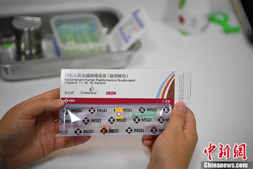 资料图为四价宫颈癌疫苗。 中新社记者 刘冉阳 摄