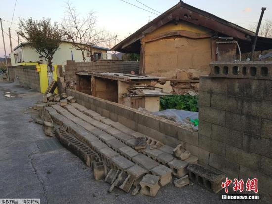 韩国庆尚北道浦项市以北6公里处发生5.4级地震。