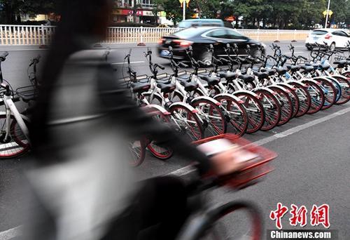 资料图:共享单车。中新社记者 张斌 摄