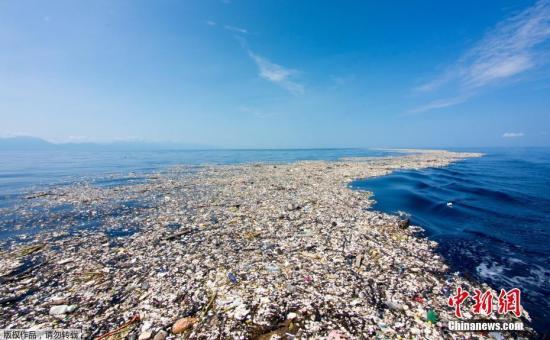 资料图:海洋污染。
