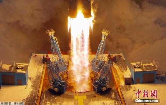 资料图:俄罗斯联盟-2.1B火箭。