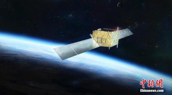 """资料图:暗物质探测卫星""""悟空""""效果图。 中科院 供图"""