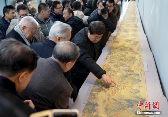图为《丝路山水地图》。 <a target='_blank' href='http://www.chinanews.com/'>中新社</a>记者 杜洋 摄