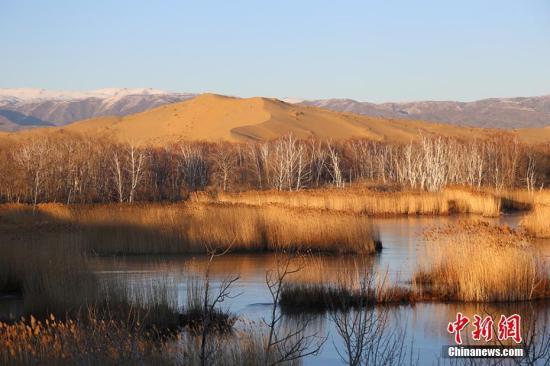 初冬时节,新疆生产建设兵团白沙湖景区。杨东东 摄