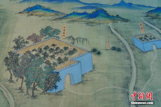图为《丝路山水地图》局部。 <a target='_blank' href='http://www.chinanews.com/'>中新社</a>记者 杜洋 摄