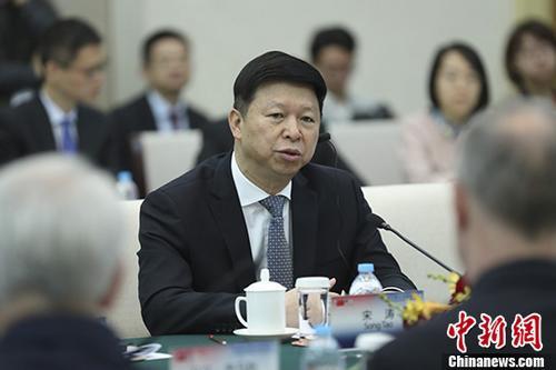 12月4日,第十届中美政党对话在北京举行。中共中央对外联络部部长宋涛出席开幕式并发表讲话。 中新社记者 盛佳鹏 摄