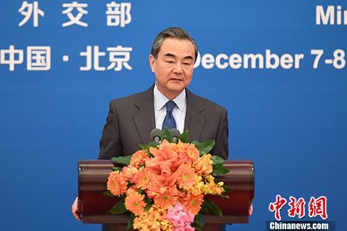 图为中国外交部长王毅。 中新社记者 崔楠 摄