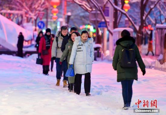资料图:暴雪天气。记者 刘新 摄