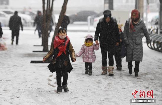 资料图:下雪天气。杨艳敏 摄