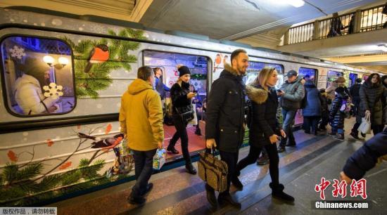 材料图:俄罗斯首都莫斯科的地铁。