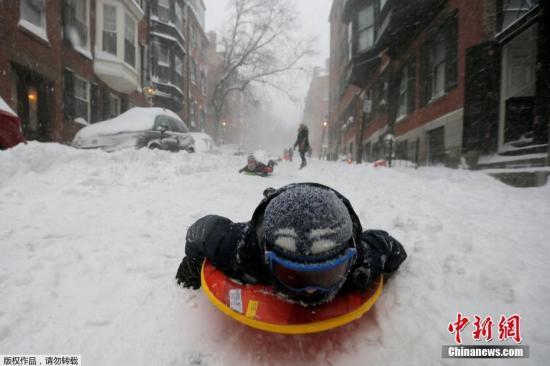 极寒过后气温回暖 美国东部及中西部仍降雪结冰