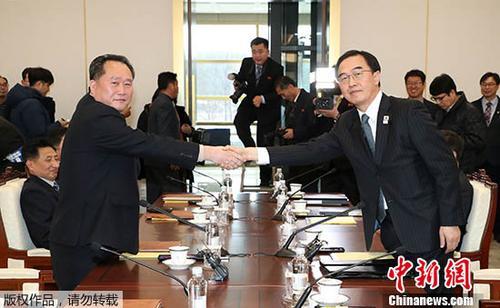 韩国和朝鲜交换明日冬奥工作会谈代表团名单