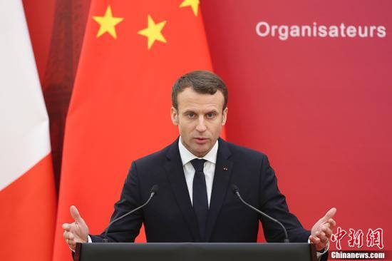 1月9日,中国国家主席习近平在北京人民大会堂同法国总统马克龙举行会谈。会谈后,两国元首共同会见了出席中法企业家委员会首次会议的企业家代表并分别致辞。 中新社记者 盛佳鹏 摄