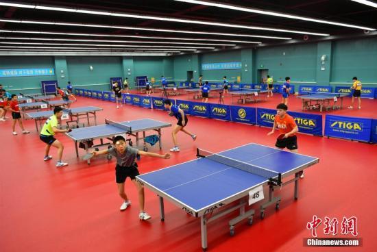 资料图:乒乓球比赛。/p中新社记者 翟羽佳 摄