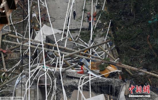 哥伦比亚一在建桥梁发生坍塌 造成至少9人死5人伤