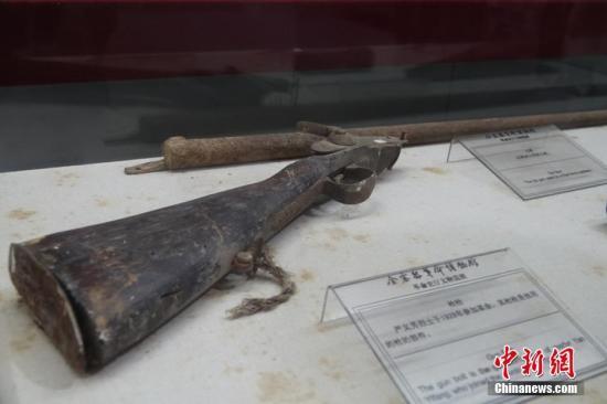 资料图:金寨县革命博物馆展出的文物。 <a target='_blank' href='http://www.chinanews.com/' >中新网</a>记者 李雨昕 摄