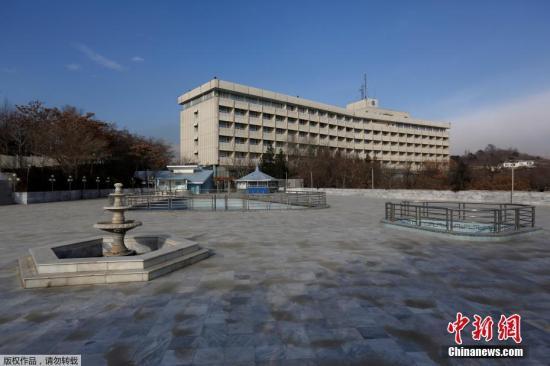 受到袭击的洲际酒店曾于2011年遭塔利班袭击,造成包括袭击者在内的21人死亡。图为喀布尔洲际酒店资料图。