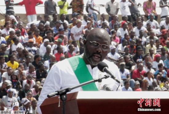 從球星到總統:維阿正式宣誓就職利比里亞總統