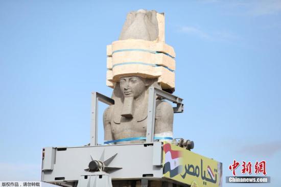 資料圖:古埃及法老雕像。