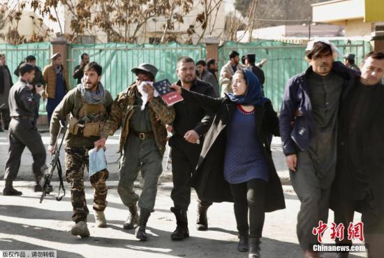 资料图:当地时间2018年1月27日,阿富汗首都喀布尔市区发生爆炸。