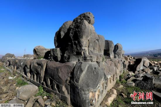 资料图:叙利亚一座3000年历史古庙毁于空袭。