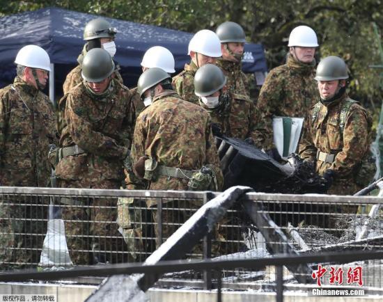 日防相视察自卫队驻地,民众抗议:我们不需要弹药库